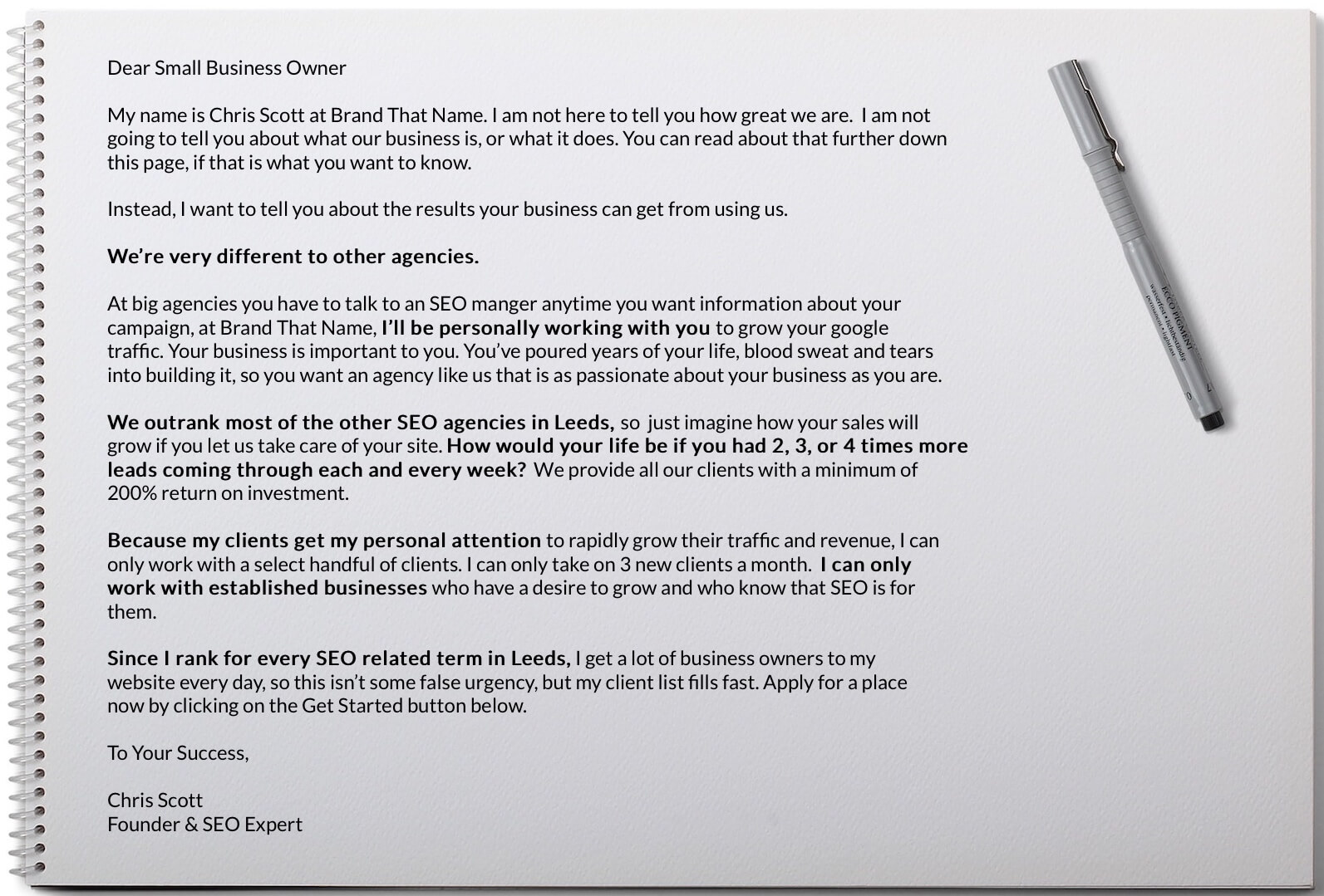 Letter to Leeds Businesses